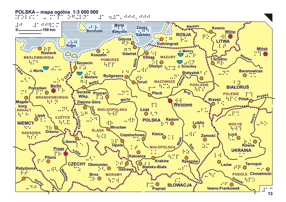 13 14 Polska Mapa Ogolna I Rzezba Terenu