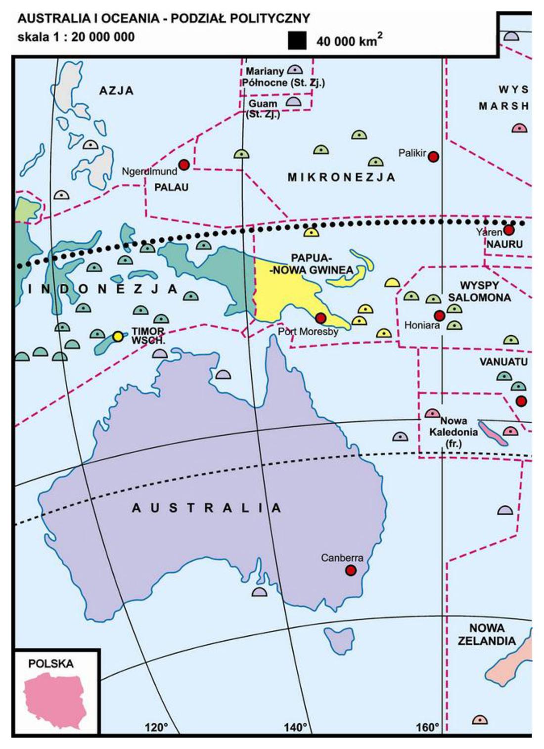 36 Australia I Oceania Podzial Polityczny